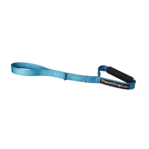 Thera Strap shoulder stretcher makes it possible to rehab, stretch and lengthen those aching muscle knots from all of your upper back, neck, shoulder and rotator cuff muscles.
